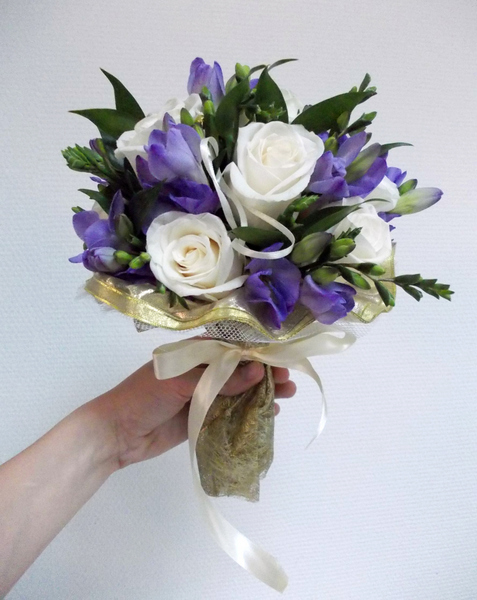 Букет невесты орхидей фиолетовых — photo 14