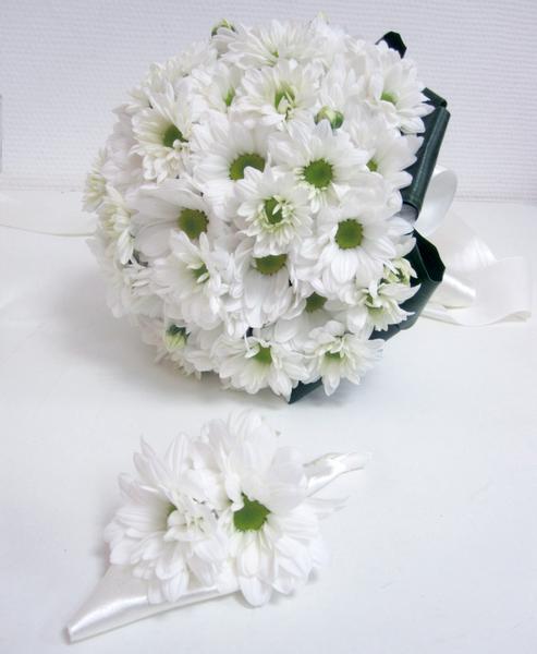 Фото букет невесты из хризантем фото