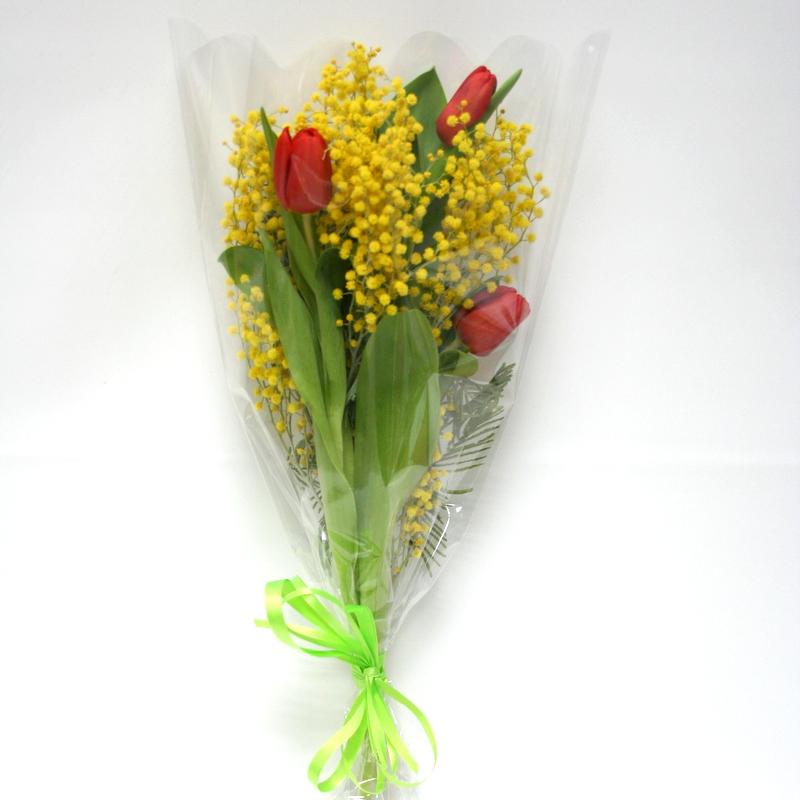название букеты мимоза с тюльпанами фото улица